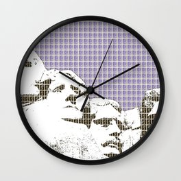 Mount Rushmore - Violet Wall Clock