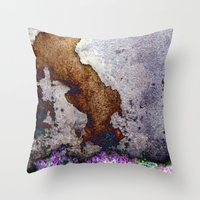 gnome Throw Pillows featuring gnome by pixelplasma