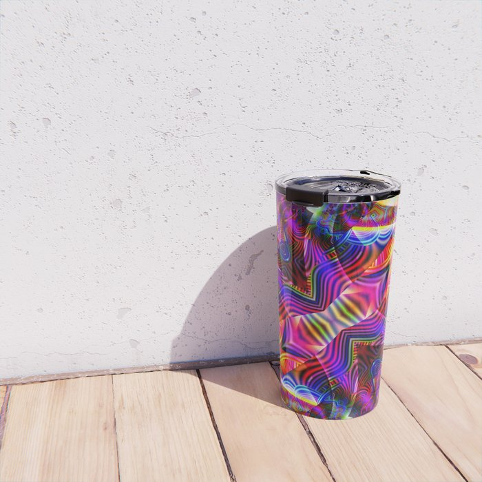 BBQSHOES: Fractal Digital Art Design 3114b Travel Mug