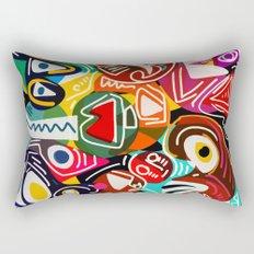 Life is beautiful street art graffiti Rectangular Pillow