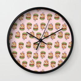 Cute Burger Wall Clock