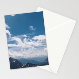 A beautiful day in the mountains Stationery Cards