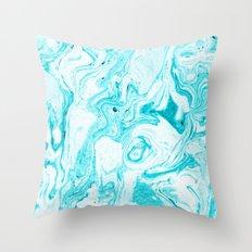 Ocean Blue Marble #society6 #decor #buyart Throw Pillow