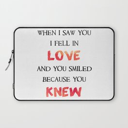 When I Saw You I Fell In Love Laptop Sleeve