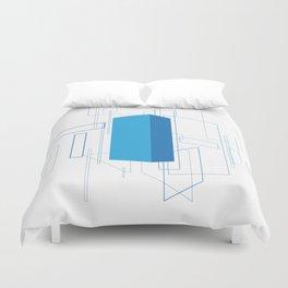 Blueprint #3 (blue) Duvet Cover