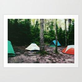 Mosquito Campsite Art Print