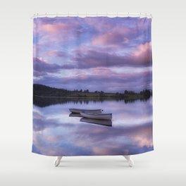 Purple Boats Shower Curtain