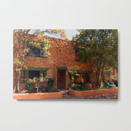 Alley In Old Town Santa Fe Metal Print