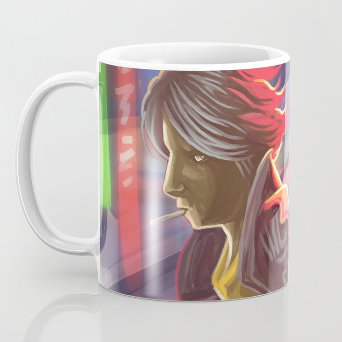 ciberpunk suspect walking in the city Coffee Mug