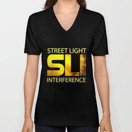 Street Light Interference Unisex V-Neck