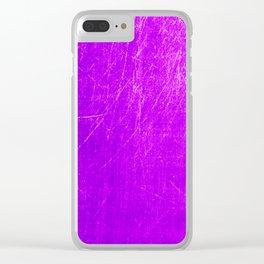 purple scratches Clear iPhone Case