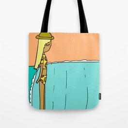 lady slide glassy land of lefts Tote Bag