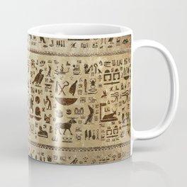 Ancient Egyptian hieroglyphs - Vintage and gold Coffee Mug