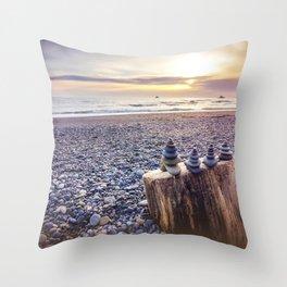 Pacific Coast Balance Throw Pillow