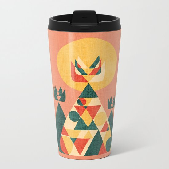 Sunset Tipi Metal Travel Mug