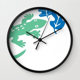 The Green Gecko Wall Clock