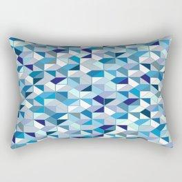 Geometrica (blue) Rectangular Pillow