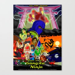 Tales of the Gangsta Ninja Canvas Print