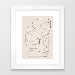 Abstract Line III Framed Art Print