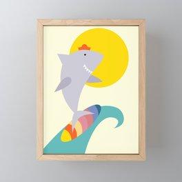 sea shark Framed Mini Art Print