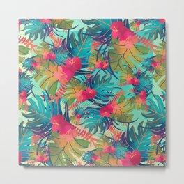 Palm Leaves Summer Feeling Metal Print