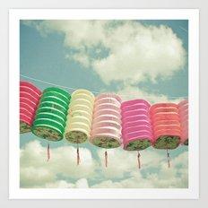 Chinese Lanterns Art Print