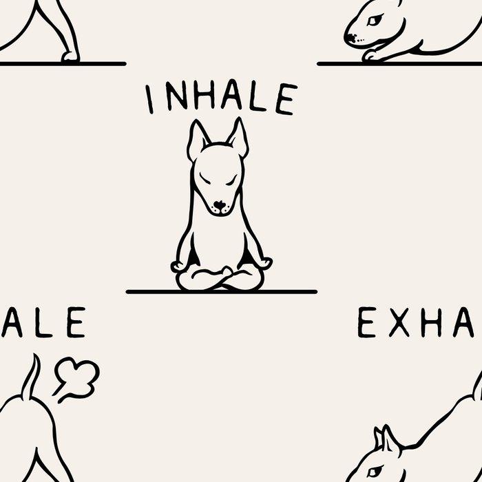 Inhale Exhale  Bull Terrier Leggings