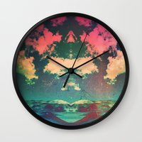 atlas Wall Clocks featuring Atlas by Polishpattern