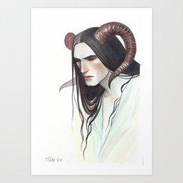 Tiefling, portrait Art Print