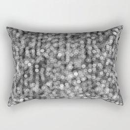 The Lights (Black and White) Rectangular Pillow