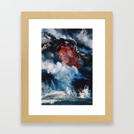 Fire and Fury Framed Art Print
