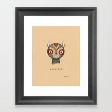 Cat Wrestler Framed Art Print