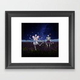 Death Fairy and her helper Framed Art Print
