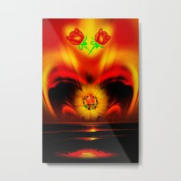 Sunflower Love 2 Metal Print
