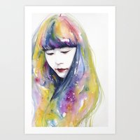 wallet Art Prints featuring lime nights by agnes-cecile