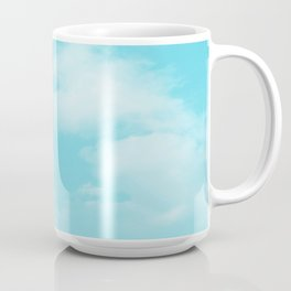 Aqua Blue Clouds Coffee Mug