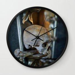 Sedlec Ossuary Skulls Photo Art, Skull Bone Church Wall Clock