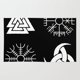 Viking Symbols Rug
