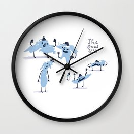 The Great Lakes!  Wall Clock