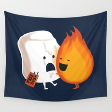 Friendly Fire Wall Tapestry