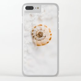 SMALL SNAIL Clear iPhone Case