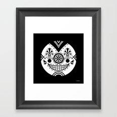 Priest Circle- black on black Framed Art Print