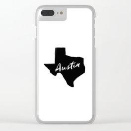 Austin, TX Clear iPhone Case