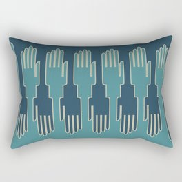 hands in zip mode Rectangular Pillow