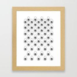what's inside the Avocado pattern Framed Art Print
