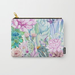 pastel votanical garden Carry-All Pouch
