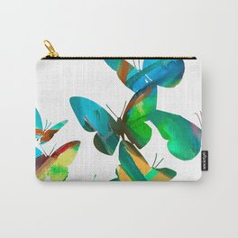 Green Butterflies Carry-All Pouch