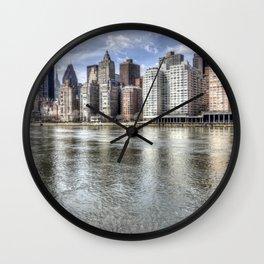 East River Manhattan Wall Clock
