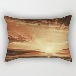 Sunset rays Rectangular Pillow