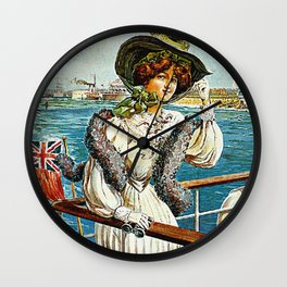 Vintage Southsea Portsmouth England Travel Wall Clock